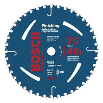 "Bosch Power Tools Carbide Construction/Framing Blade With 40 TPI, 5/8"" With 13/16"" Diamond Arbor, 20° Hook Angle And 0.068"" Kerf"