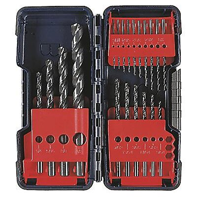 "Bosch Power Tools Piece 1/16"" - 3/8"" 135°, Black Oxide, Split Point, Drill Set With Blow Molded Case"