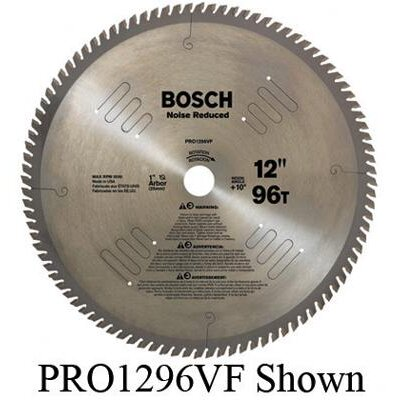 "Bosch Power Tools Professional Series Vibration Free Circular Saw Blade For Noise Reduced Cutting With 72 TPI, 5/8"" Arbor, 10° Hook Angle"