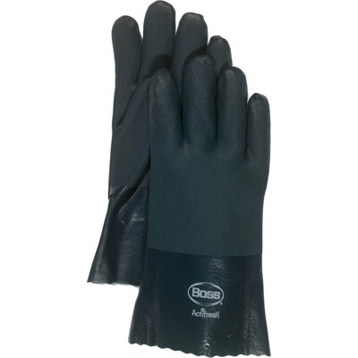 Boss Manufacturing Company Large RuffGrip™ Gauntlet PVC Coated Gloves