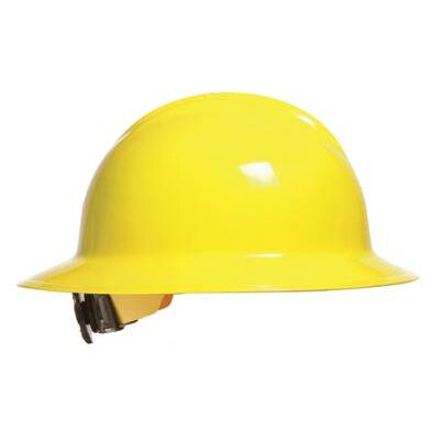 Bullard Abrasives Yellow Classic Model C33 Full Brim Hardhat WIth 6 Point Ratchet Suspension