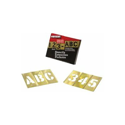 "C.H. Hanson Brass Stencil Letter & Number Sets - 1"" 92pc letter & numberset"