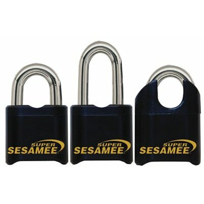 "CCL Super Sesame Keyless Padlocks - super sesamee padlock 1""shackle 7/16"" dia black"