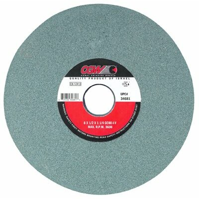 CGW Abrasives Green Silicon Carbide Surface Grinding Wheels - 7x1/2x1-1/4 t1 gc80-i-vgreen silicon carbide su