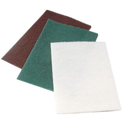 "CGW Abrasives Non-Woven Hand Pads - light duty white 6""x9"" hand pad 10/pk"