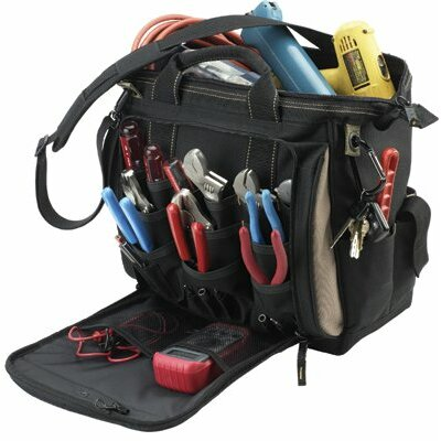 "CLC Custom Leather Craft Soft Side Tool Bags - 13"" multi-compartment tool carrier"