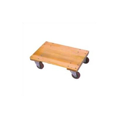 "Wesco Manufacturing Solid Platform Wood Dolly with 4"" Casters"