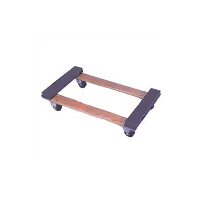 Wesco Manufacturing Open Deck Wood Dolly with Rubber Ends