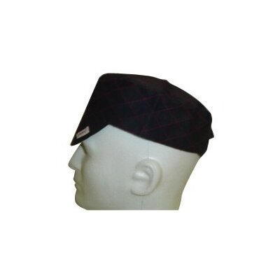 Comeaux Caps Flat Crown Caps - 30612 black quilted cap