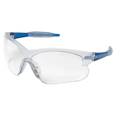 Crews Deuce® Safety Glasses - deuce blue frames clearlens sml. safety glass