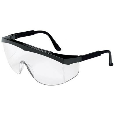 Crews Stratos® Spectacles - stratos black frame clear lens safety glass