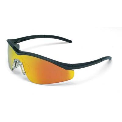 Crews MCR TriWear® ProGrade™ Series Safety Glasses With Onyx Frame And Fire Lens