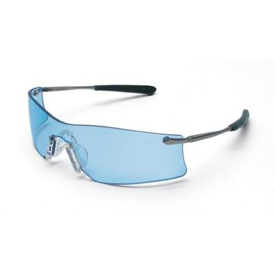 Crews Rubicon™ Medallion Safety Glasses With Metal Frame, Blue Anti-Fog Duramass® Scratch Coated Lens, Carrying Case And Retainer Cord (12 Per Box)