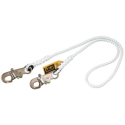 DBI/Sala Rope Lanyard With Self Locking Snap Hooks At Both Ends