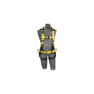 DBI/Sala Delta™ II Construction Vest Style Full Body Harness W/Front & Back D-Rings, Belt W/Sewin-In Back & Shoulder Pads & Tongue Buckle Legs