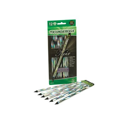 Dixon Ticonderoga Company Ticonderoga Noir Holographic Woodcase Pencil, 12 Per Pack
