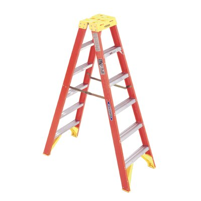 Werner 6' Fiberglass Twin Step Ladder T6206