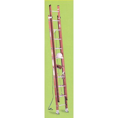 Werner 24' Fiberglass Extension Ladder D6224-2