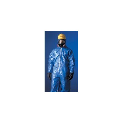 DuPont Tychem® CPF1 Blue Coverall With Serged Seams Front Zipper Closure And Collar