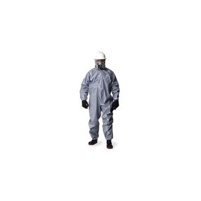 DuPont Gray Tychem® CPF 2 Chemical Resistant Coverall With Zip Front, Hood, Double Storm Flap And Taped Seams (6 Per Case)