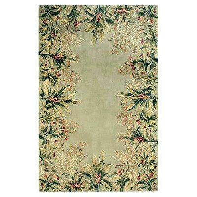 KAS Oriental Rugs Emerald Sage Tropical Border Rug