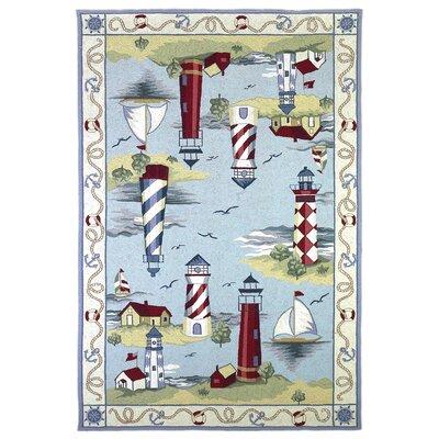 Colonial Lake House Nautical Novelty Rug
