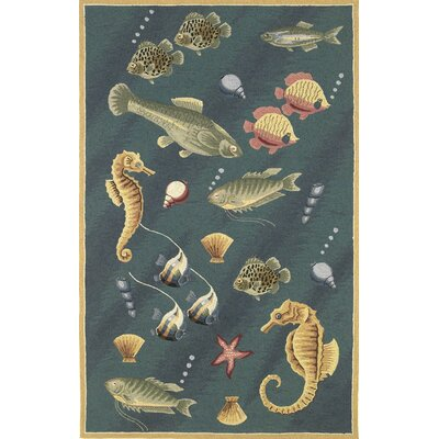 KAS Oriental Rugs Colonial Deep Sea Dives Novelty Rug