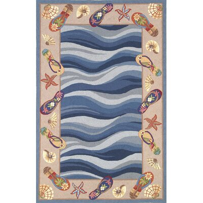 Colonial Fun in the Sun Nautical Novelty Rug