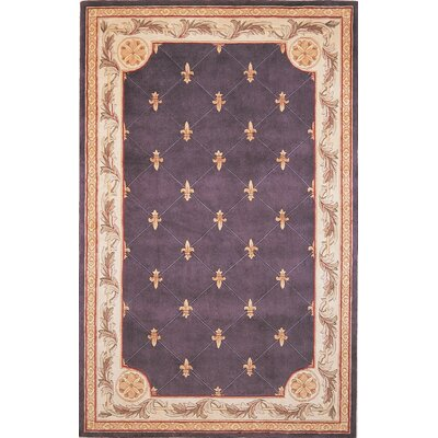 KAS Oriental Rugs Jewel Grape Fleur-De-Lis Rug