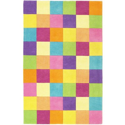 KAS Oriental Rugs Kidding Around Girls' Blocks Kids Rug