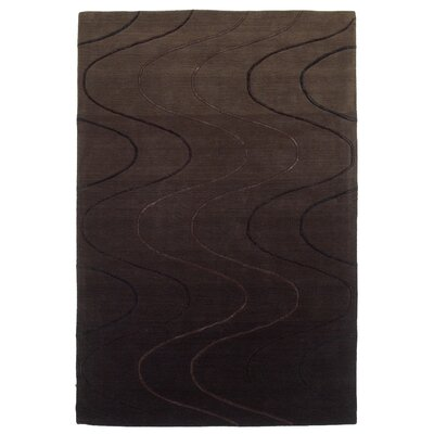 KAS Oriental Rugs Transitions Waves Espresso Rug