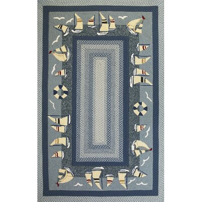 KAS Oriental Rugs Fairfax Sailboats Novelty Rug