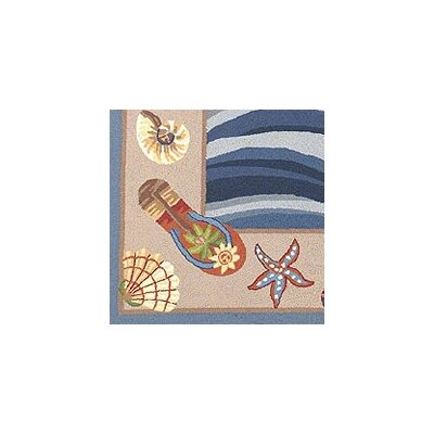 KAS Oriental Rugs Colonial Fun in the Sun Nautical Novelty Rug