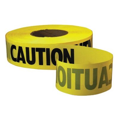 Empire Level Empire Level - Safety Barricade Tapes Econo Grade Caution Tape-Yellow W/Black Print: 272-71-1001 - econo grade caution tape-yellow w/black print