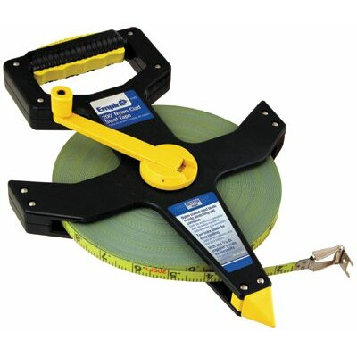 "Empire Level Reel Tape Measures - 1/2""x200' nylon-clad steel tape measure"