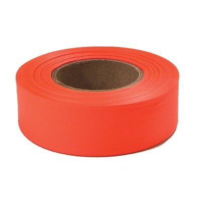 "Empire Level Flagging Tapes - 77002 glo-orange 1""x200'plastic flagging tape"