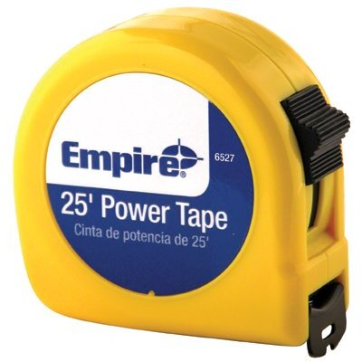 "Empire Level Tape Measures - 1""x25' tape measure 3 language packaging"