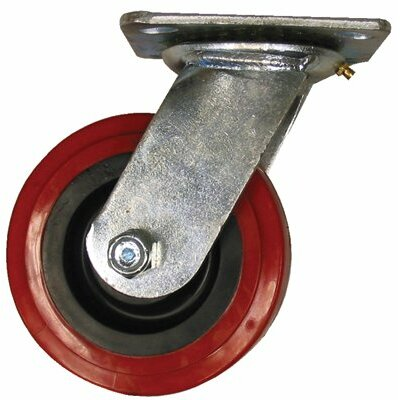 EZ Roll Medium Heavy Duty Casters - 4x2in polyurethane/polyolefin rigid
