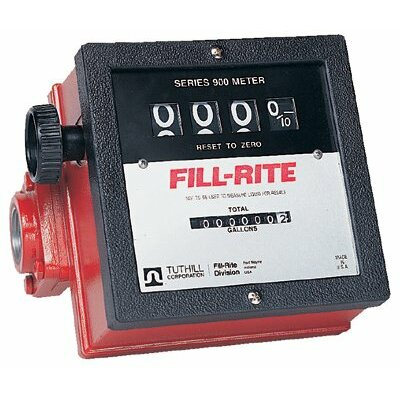 "Fill-Rite Mechanical Flow Meters - series 900 basic meter w/1"" inlet & outlet 40gp"