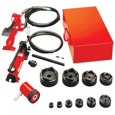 "Gardner Bender Slug-Out™ Hydraulic Knockout Set 1/2 to 4"" w / hand pump"