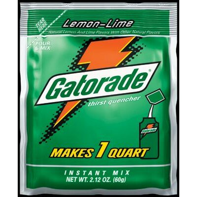 Gatorade Ounce Instant Powder Package Lemon-Lime - Yields 1 Liquid Quart