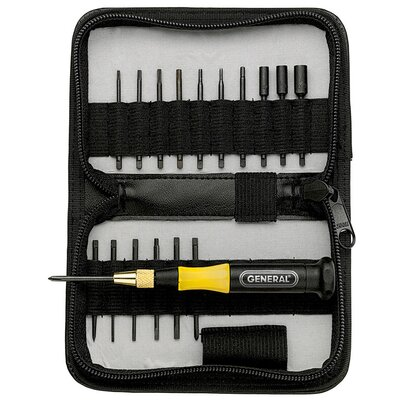 General Tools 18 Piece Precision UltraTech Screwdriver Set 63518