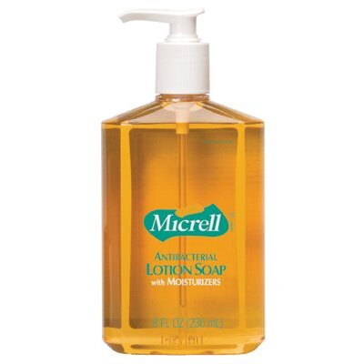 Gojo Gojo - Micrell Antibacterial Lotion Soaps Micrell Antibacterial Lotion Soap: 315-9759-12 - 12 fl oz pump bottle amber