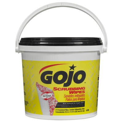 Gojo Scrubbing Wipes, Heavy-Duty Hand Cleaning, 170/Bucket