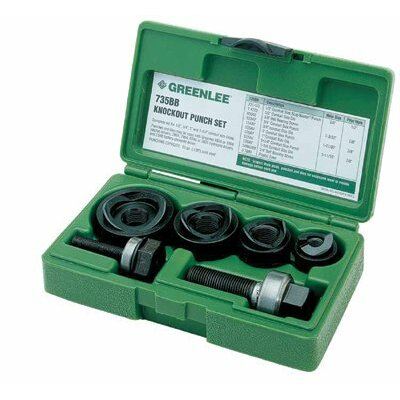 "Greenlee Manual Round Standard Knockout Punch Kits - 19973 1/2""-1-1/4"" knocko"