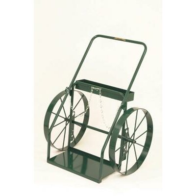 "Harper Trucks 300 Series Continuous Handle Hand Truck For Medium And Large Cylinders With 24"" Steel Wheels"