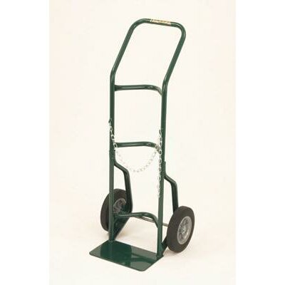 "Harper Trucks 700 Series Cylinder Hand Truck For Medium To Large Cylinders With 10"" Solid Rubber Wheels"
