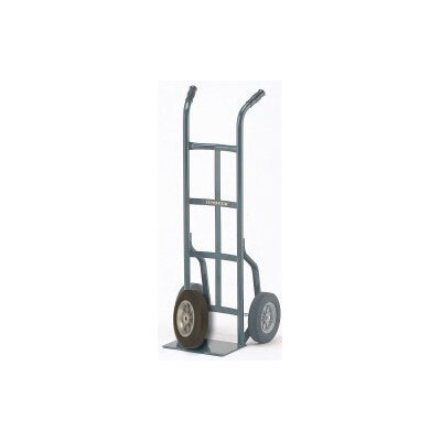 "Harper Trucks 20T Series Dual Handle Steel Hand Truck With 10"" X 2 1/2"" Offset Poly Hub Solid Rubber Wheels"