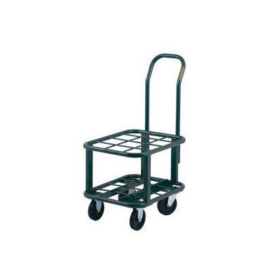 "Harper Trucks MG Series Multi-Quantity Transport And Storage Unit For 12 D Or E Size Cylinder With 5"" Poly Swivel Wheels And 5"" Poly Rigid Wheels"