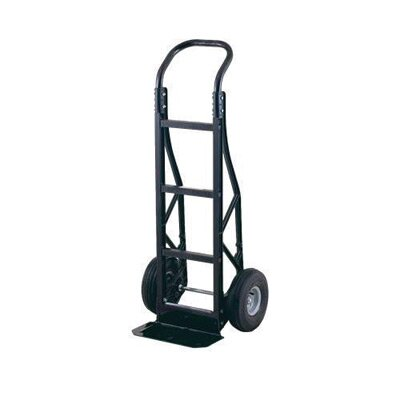 "Harper Trucks PGC Series Nylon Hand Truck With Continuous Handle, Steel Base Plate And 10"" Pneumatic 2-Ply Tubeless Wheels"